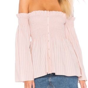 NWT ASTR THE LABEL SHELBY OFF SHOULDER TOP SMALL